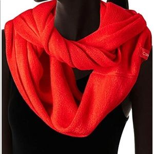 NWT Calvin Klein Red Infinity Scarf